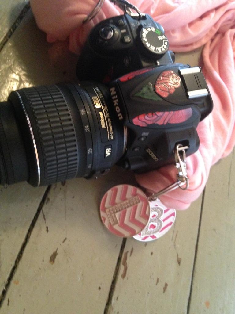 Camera with DiY Camera Strap